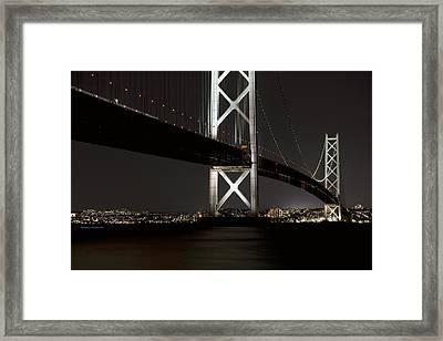 Akashi Kaikyo Bridge Japan Framed Print