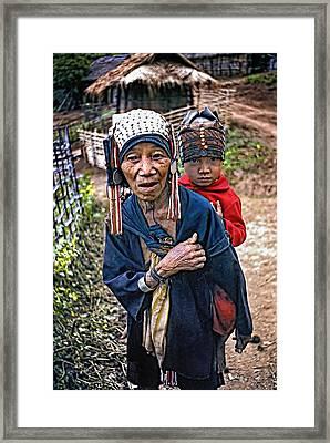 Akha Tribe II Framed Print by Steve Harrington