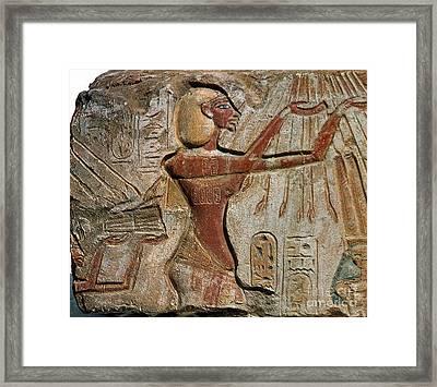 Akhenaten, New Kingdom Egyptian Pharaoh Framed Print by Science Source