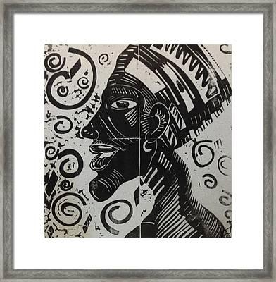 Akhenaten Framed Print by Susan L Sistrunk