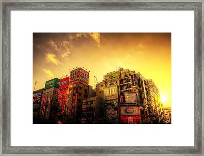 Akihabara Sunset Framed Print by SEOS Photography