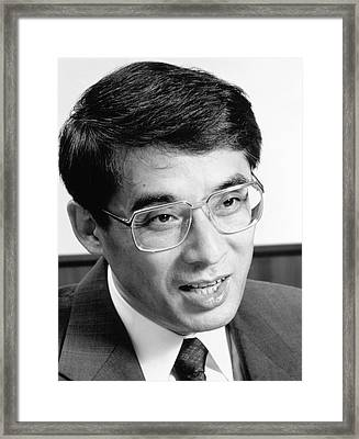 Akira Tonomura Framed Print by Emilio Segre Visual Archives, Physics Today Collection/american Institute Of Physics