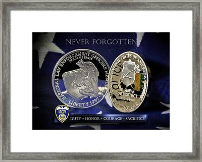 Akron Police Memorial Framed Print by Gary Yost