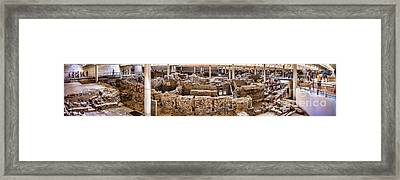 Akrotiri Archaeological Site In Santorini Framed Print by David Smith