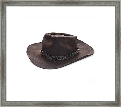 Akubra Hat Framed Print by Colin and Linda McKie