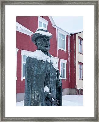 Akureyri During Winter Framed Print
