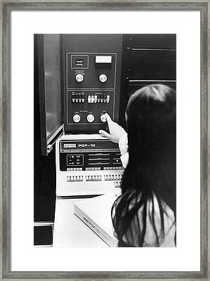 Al-10 Computer System Framed Print