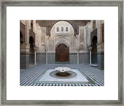 Al-attarine Madrasa Built By Abu Framed Print by Panoramic Images