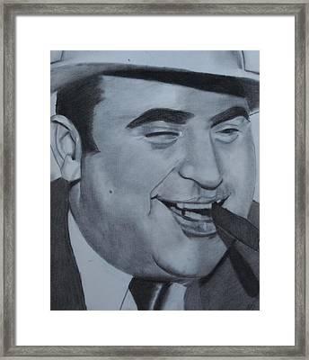 Al Capone Framed Print by Aaron Balderas