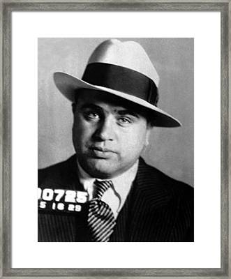 Al Capone, American Mobster Framed Print by Science Source