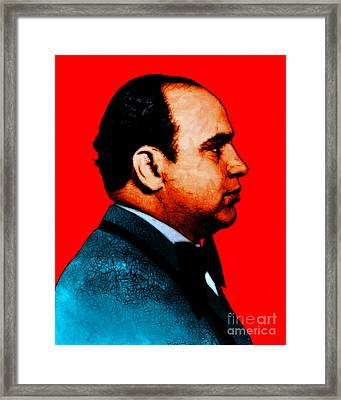 Al Capone C28169 - Red - Painterly Framed Print by Wingsdomain Art and Photography
