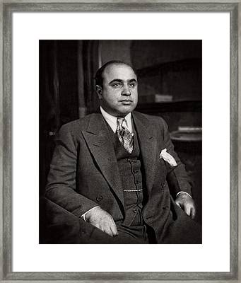 Al Capone - Scarface Framed Print by Doc Braham