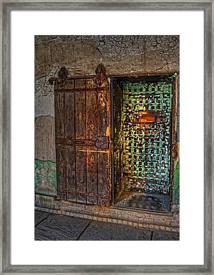 Al Capones Cell Door Framed Print