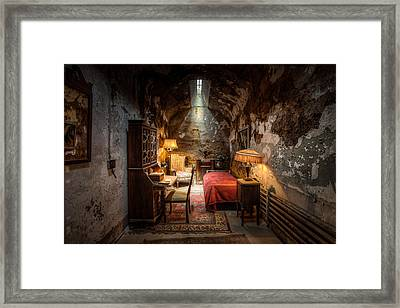 Framed Print featuring the photograph Al Capone's Cell - Historical Ruins At Eastern State Penitentiary - Gary Heller by Gary Heller