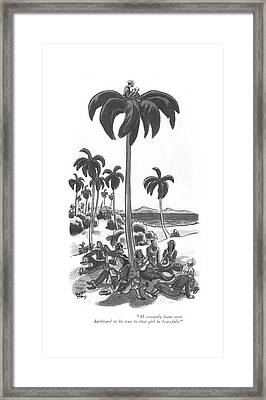 Al Certainly Leans Over Backward To Be True Framed Print by Robert J. Day