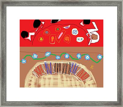 Al Fresco  Framed Print by Anita Dale Livaditis