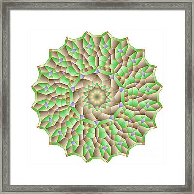 al Haleem Pattern Framed Print by Cam Macfarlane
