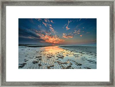Framed Print featuring the photograph Al Hamra Sunset by Robert  Aycock