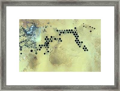 Al Jawf Framed Print by Jaxa/european Space Agency