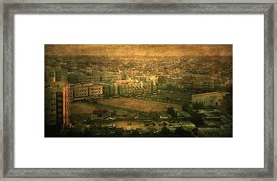 Al-khobar On Texture Framed Print