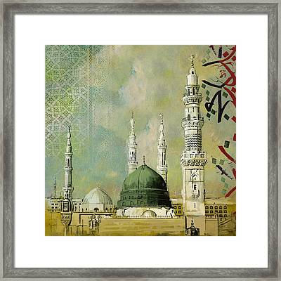 Al-masjid An-nabawi Framed Print by Corporate Art Task Force