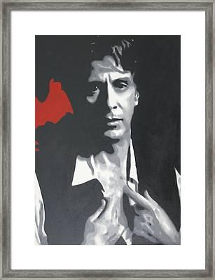 Al Pacino 2013 Framed Print by Luis Ludzska