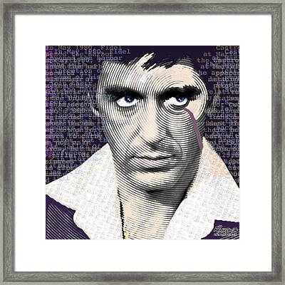 Al Pacino Again Framed Print by Tony Rubino