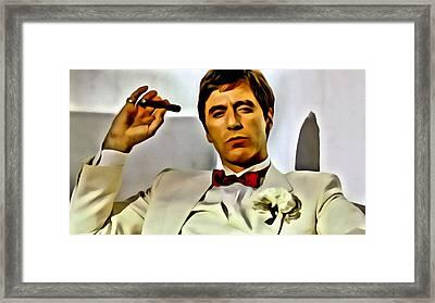 Al Pacino Framed Print by Florian Rodarte