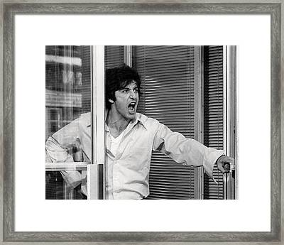 Al Pacino In Dog Day Afternoon  Framed Print by Silver Screen