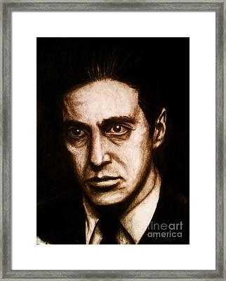 Al Pacino Framed Print by Justin Coffman