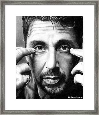Al Pacino Framed Print