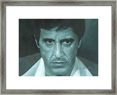 Al Pacino 'scarface'  Framed Print by David Dunne