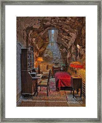 Al Scarface Capone Cell Framed Print by Susan Candelario