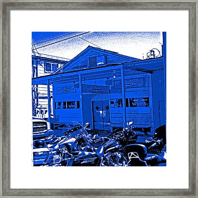 Al The Wop In  Blue Framed Print by Joseph Coulombe