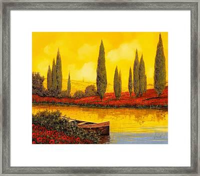 Al Tramonto Framed Print