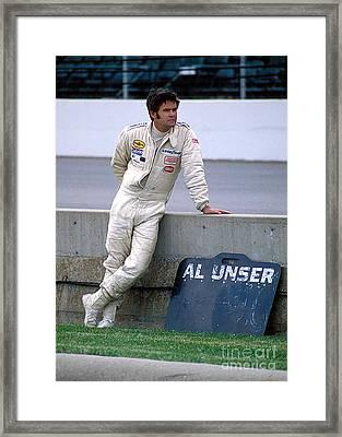 Al Unser Sr. At Indy Framed Print