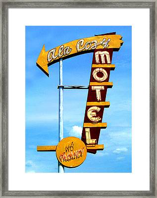 Ala Cozy Motel Framed Print