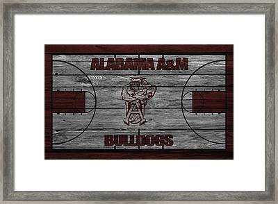 Alabama A M Bulldogs Framed Print by Joe Hamilton
