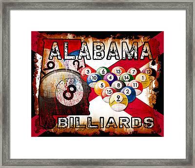 Alabama Billiards Framed Print