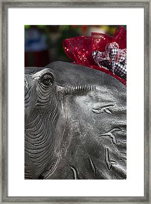 Alabama Crimson Tide Football Mascot Framed Print by Kathy Clark