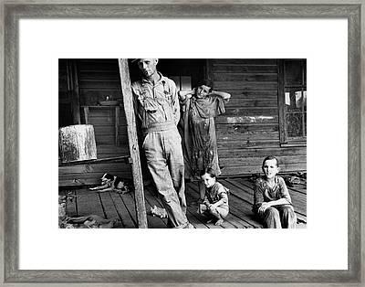 Alabama Family, 1936 Framed Print