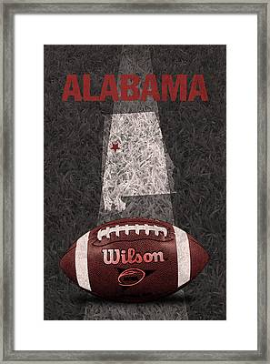 Alabama Football Map Poster Framed Print