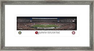 Alabama Football Panorama Framed Print by Retro Images Archive