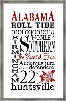Alabama Framed Print by Heather Applegate
