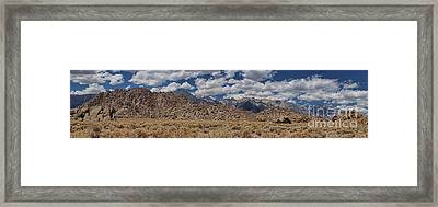 Framed Print featuring the photograph Alabama Hills And Eastern Sierra Nevada Mountains by Peggy Hughes