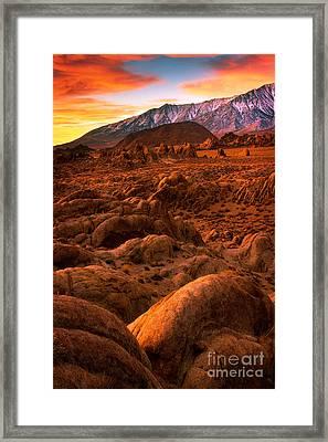 Alabama Hills Dawn Framed Print by Inge Johnsson
