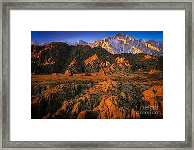 Alabama Hills Framed Print by Inge Johnsson