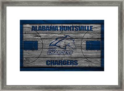 Alabama Huntsville Chargers Framed Print
