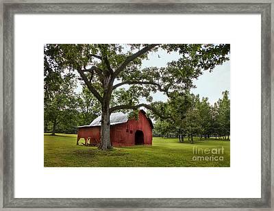 Alabama Red Barn  Framed Print