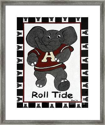 Alabama Roll Tide Framed Print